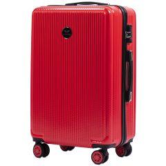 Cestovní kufr WINGS ABS POLIPROPYLEN BLOOD RED střední M
