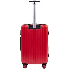 Cestovní kufr WINGS ABS POLIPROPYLEN BLOOD RED střední M E-batoh