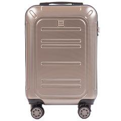 Cestovní kufr WINGS ABS POLIPROPYLEN BRONZE malý S E-batoh