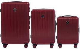 Cestovní kufry sada WINGS ABS- PC VINE RED L,M,S