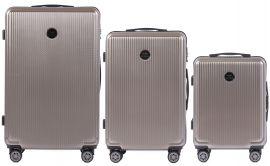 Cestovní kufry sada WINGS ABS- PC BRONZE L,M,S