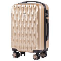Cestovní kufr WINGS ABS POLIPROPYLEN CHAMPAGNE malý S