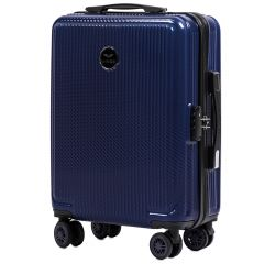 Cestovní kufr WINGS ABS POLIPROPYLEN DARK BLUE malý S