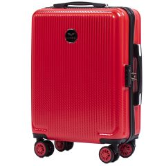 Cestovní kufr WINGS ABS POLIPROPYLEN BLOOD RED malý S