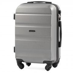 Cestovní kufr WINGS LOVEBIRD ABS SILVER malý xS