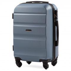 Cestovní kufr WINGS LOVEBIRD ABS SILVER BLUE malý xS