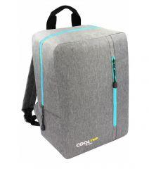 Příruční zavazadlo - batoh pro RYANAIR 40x25x20 GREY-TYRKYS