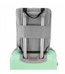 Příruční zavazadlo - batoh pro RYANAIR 40x25x20 GREY-GREEN RGL E-batoh