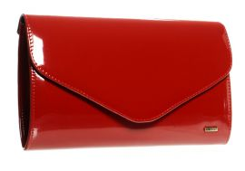 Červené lakované společenské dámské psaníčko SP102 GROSSO E-batoh