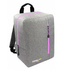 Příruční zavazadlo - batoh pro RYANAIR 40x25x20 GREY-PINK