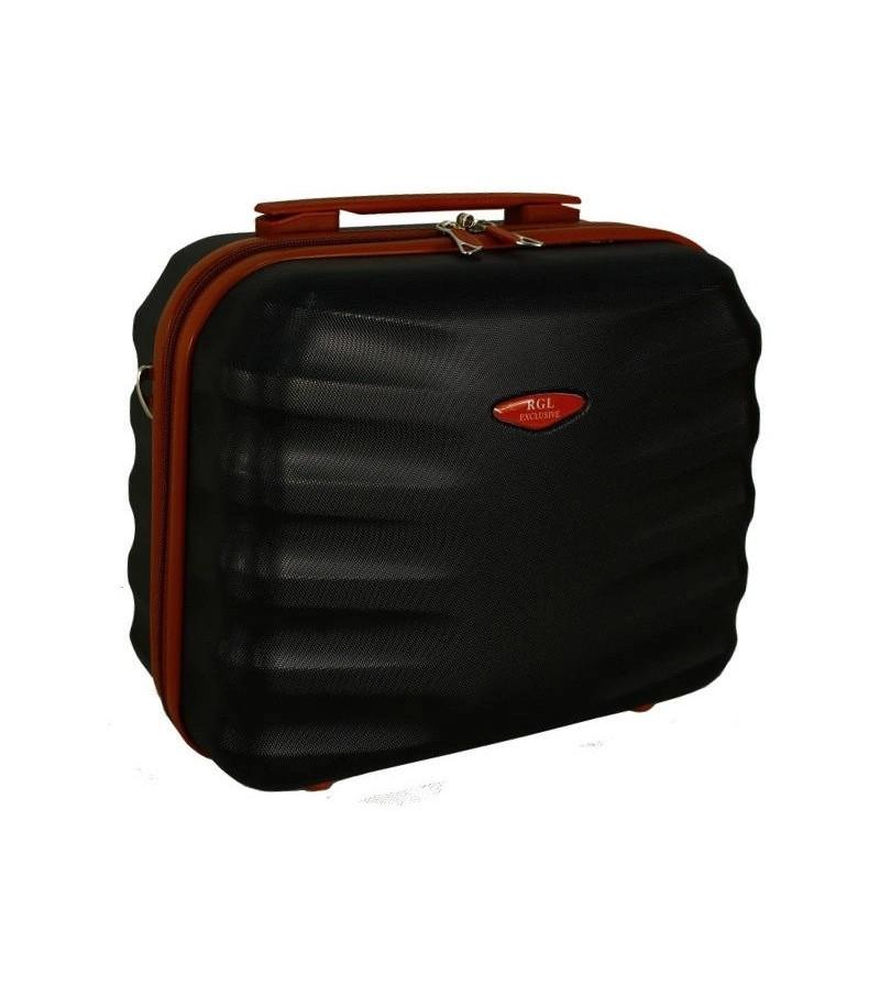 RGLSILVER Kosmetický kufřík RODOS BLACK velký