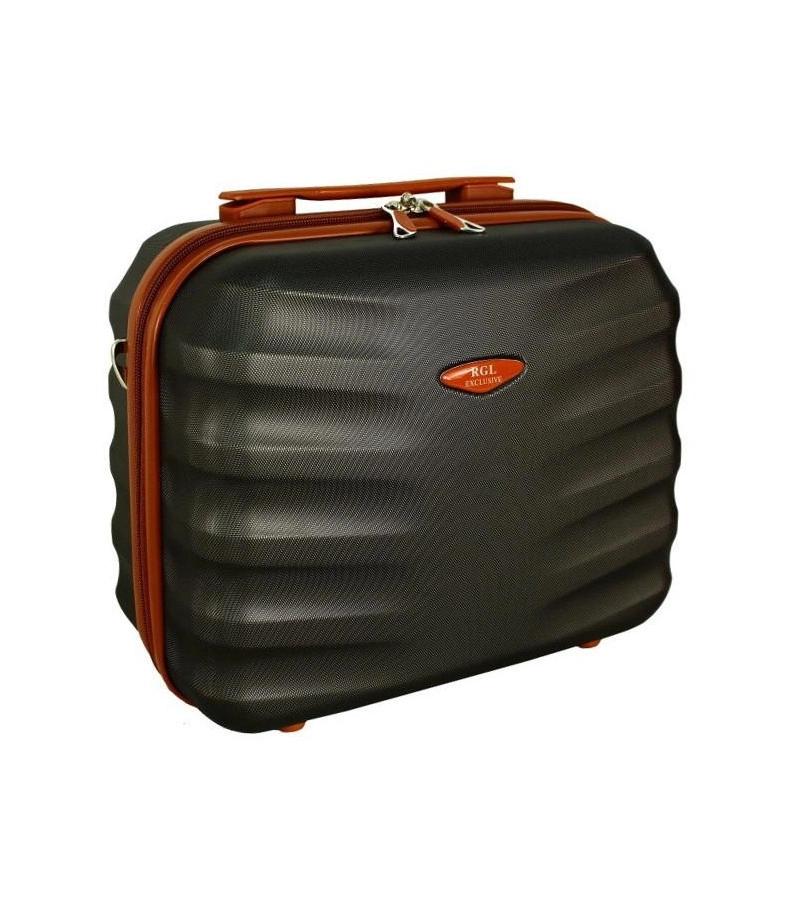 RGLSILVER Kosmetický kufřík RODOS DARK-GREY velký