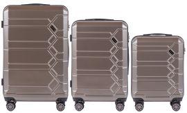 Cestovní kufry s TSA sada WINGS ABS- PC BRONZE L,M,S