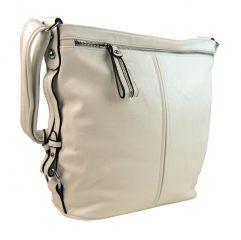 Moderní velká crossbody kabelka 74-MH krémová Mahel E-batoh