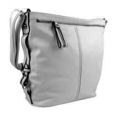 Moderní velká crossbody kabelka 74-MH světle šedá Mahel E-batoh