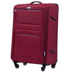 Sada 3 textilních kufrů WINGS 2861 RED L/M/S E-batoh