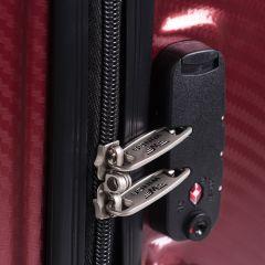 Cestovní kufr WINGS ABS-POLIPROPYLEN BLACK S TSA velký L E-batoh