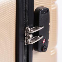 Cestovní kufr WINGS ABS-PP SILVER S TSA velký L E-batoh