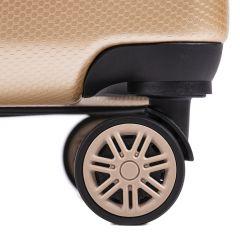 Cestovní kufr WINGS ABS-PP S TSA SILVER malý S E-batoh