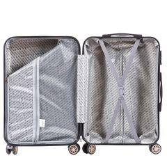 Cestovní kufr WINGS ABS-PP S TSA DARK GREEN malý S E-batoh