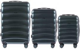 Cestovní kufry s TSA sada WINGS ABS- PC DARK GREEN L,M,S