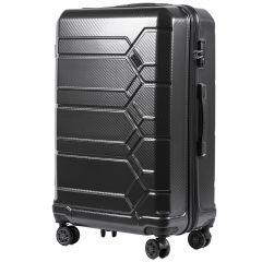Cestovní kufr WINGS ABS-POLIPROPYLEN DARK GREY S TSA velký L
