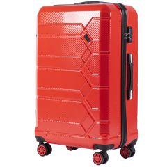 Cestovní kufr WINGS ABS-POLIPROPYLEN BLOOD RED S TSA velký L