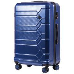 Cestovní kufr WINGS ABS-POLIPROPYLEN DARK BLUE S TSA velký L