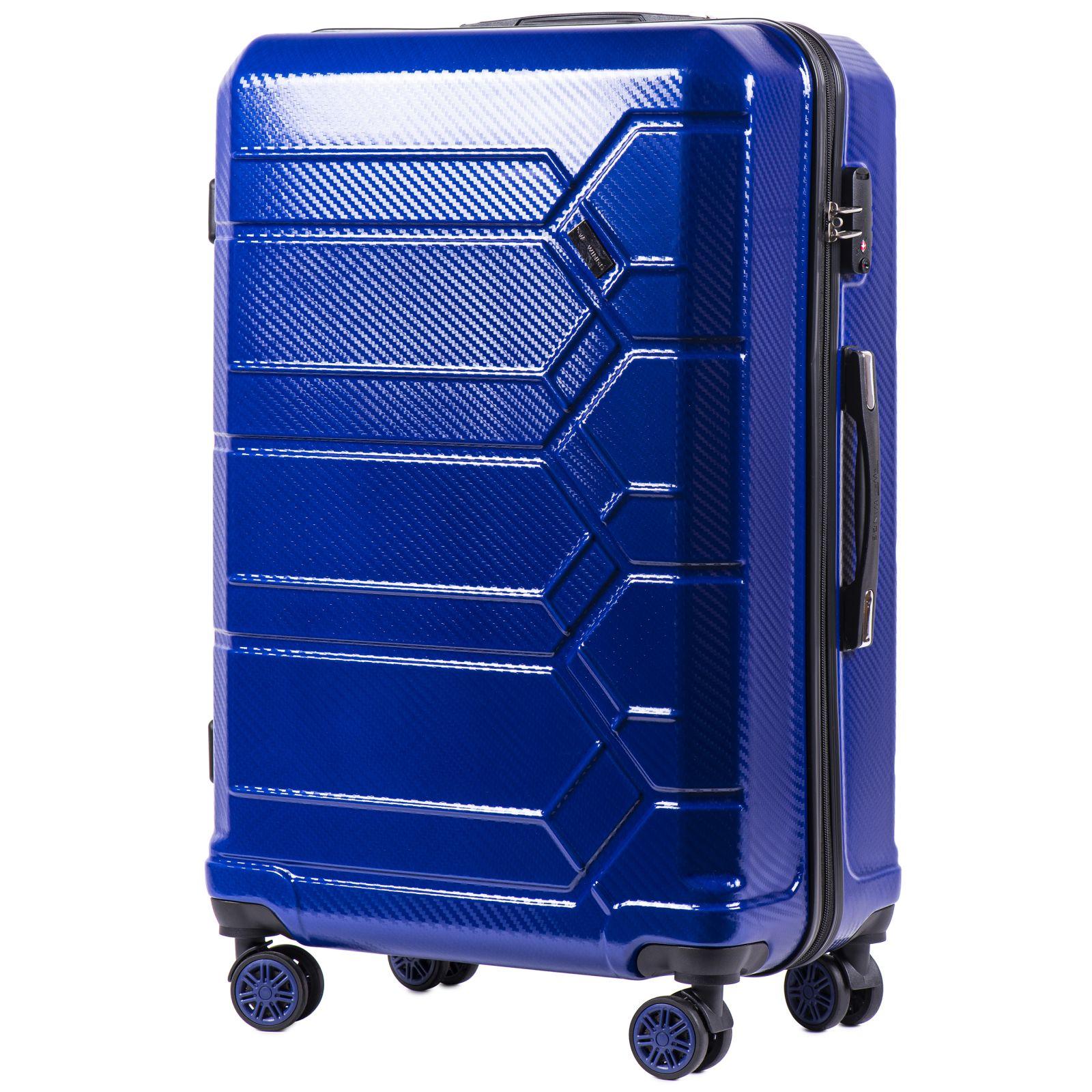 Cestovní kufr WINGS ABS-POLIPROPYLEN BLUE S TSA velký L