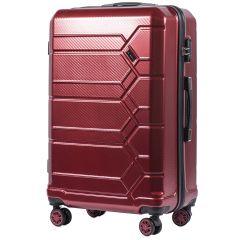 Cestovní kufr WINGS ABS-POLIPROPYLEN VINE RED S TSA velký L