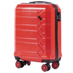 Cestovní kufr WINGS ABS-PP S TSA RED malý S