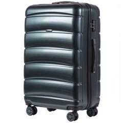 Cestovní kufr WINGS ABS-PP DARK GREEN S TSA velký L