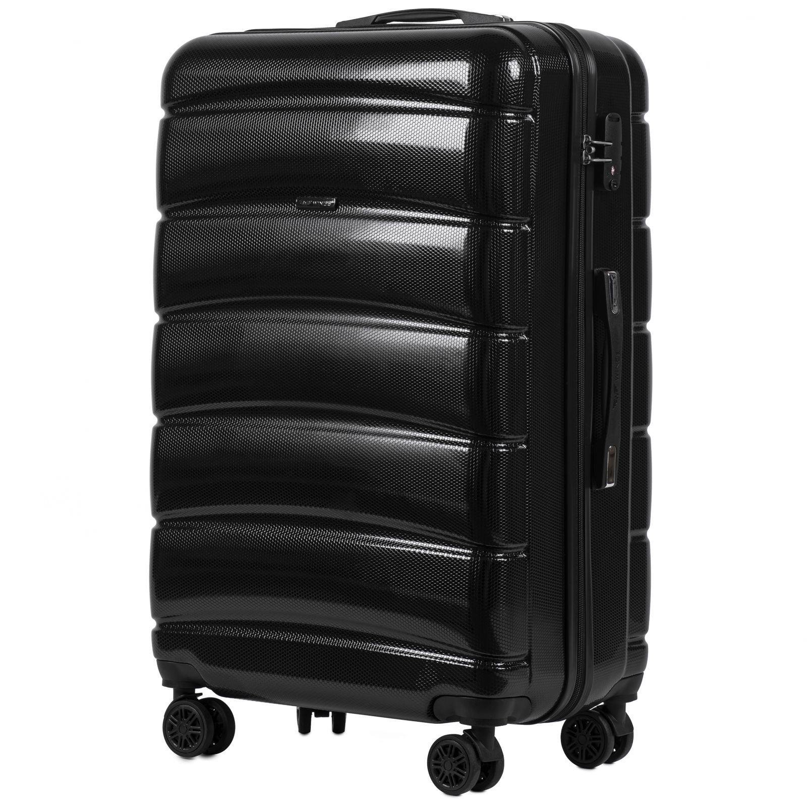Cestovní kufr WINGS ABS-PP BLACK S TSA velký L