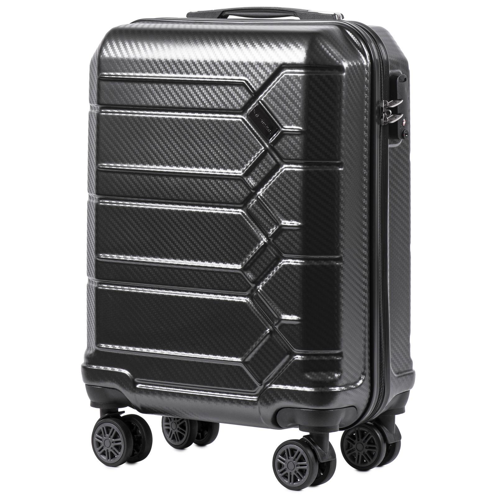 Cestovní kufr WINGS ABS-PP S TSA DARK GREY malý S