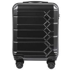 Cestovní kufr WINGS ABS-PP S TSA DARK GREY malý S E-batoh
