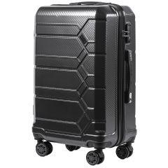 Cestovní kufr WINGS ABS-PP S TSA DARK GREY střední M