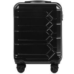 Cestovní kufr WINGS ABS-PP S TSA BLACK malý S E-batoh