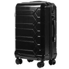 Cestovní kufr WINGS ABS-PP S TSA BLACK střední M