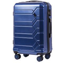 Cestovní kufr WINGS ABS-PP S TSA DARK BLUE střední M