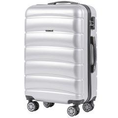 Cestovní kufr WINGS ABS-PP S TSA SILVER střední M