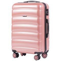 Cestovní kufr WINGS ABS-PP S TSA PINK střední M