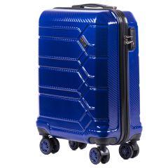 Cestovní kufr WINGS ABS-PP S TSA BLUE malý S