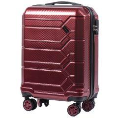 Cestovní kufr WINGS ABS-PP S TSA VINE RED malý S