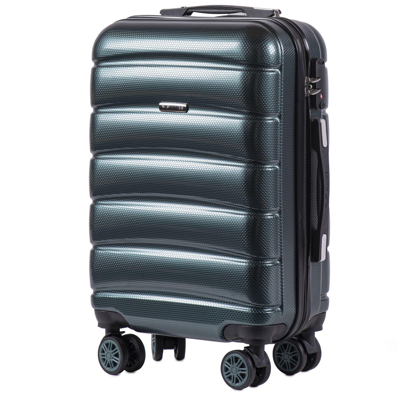 Cestovní kufr WINGS ABS-PP S TSA DARK GREEN malý S