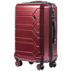 Cestovní kufr WINGS ABS-PP S TSA VINE RED střední M