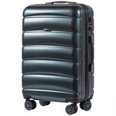 Cestovní kufr WINGS ABS-PP S TSA DARK GREEN střední M