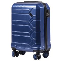 Cestovní kufr WINGS ABS-PP S TSA DARK BLUE malý S