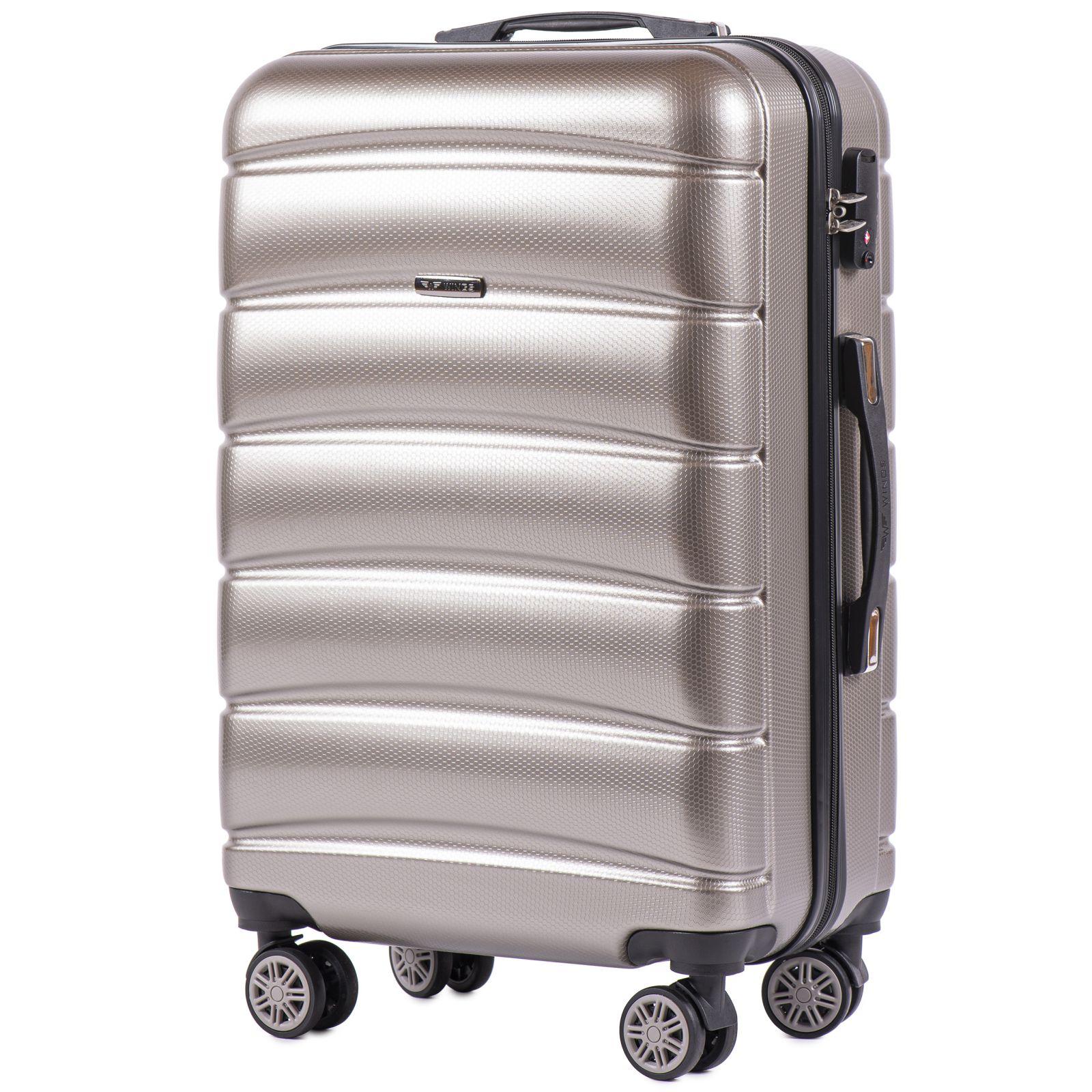 Cestovní kufr WINGS ABS-PP S TSA BRONZE střední M