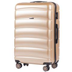 Cestovní kufr WINGS ABS-PP CHAMPAGNE S TSA velký L