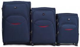Sada 3 textilních kufrů WINGS 1708 BLUE L/M/S